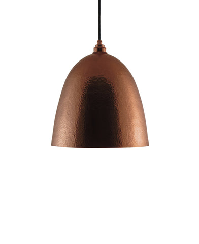 Modern Bell shaped hand made polished copper pendant lamp