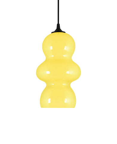 curvesome modern ceramic pendant lamp in cheeful warm yellow