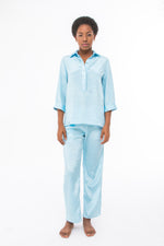 Blouse and Pant Set in Sky Blue