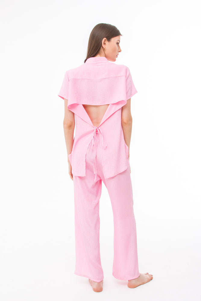 Load image into Gallery viewer, Blouse and Pant Set in Pink