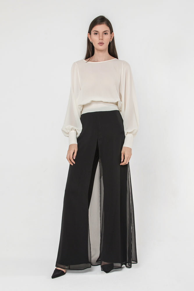 Palazzo Scart Pants in Black