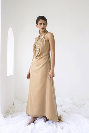 Load image into Gallery viewer, Long Gold Dress
