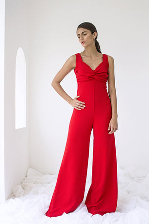 Bombshell Red Jumpsuit