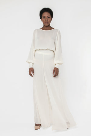 Load image into Gallery viewer, Palazzo Scart Pants in Ivory