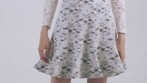 Load and play video in Gallery viewer, Denim Soutache Lace Skirt