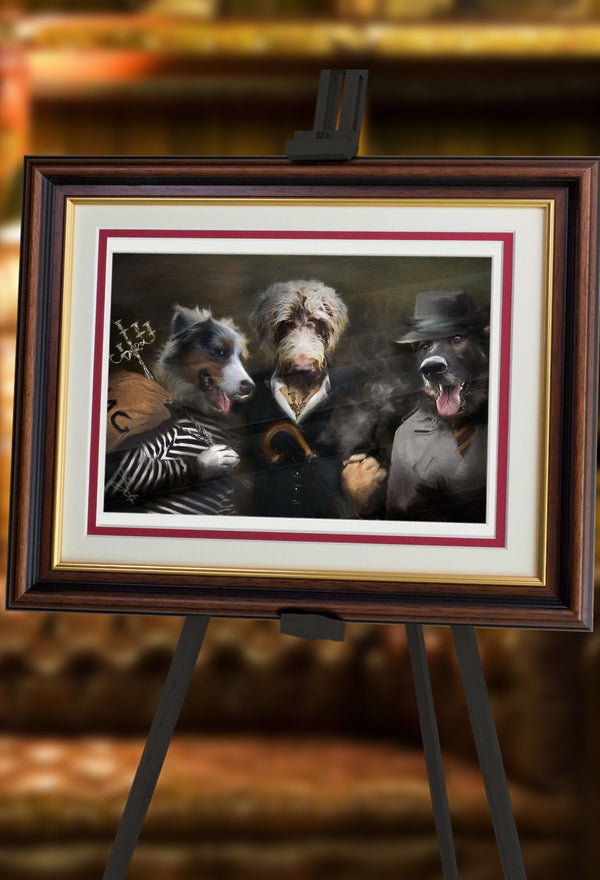 Cops and Robbers Pet Portrait at Turner & Walker