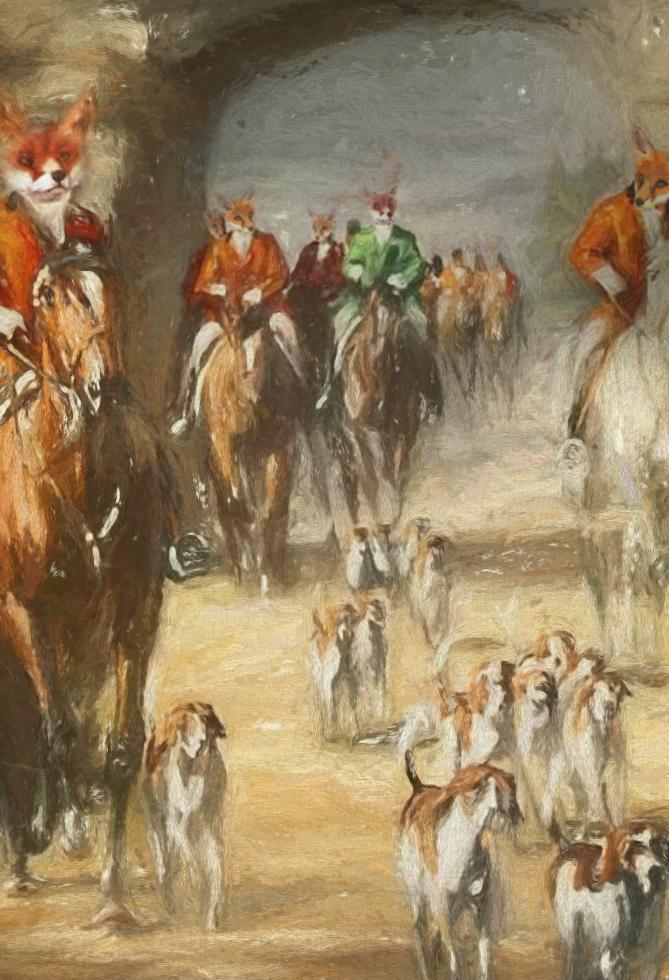 The Hunting Party Pet Portrait at Turner & Walker