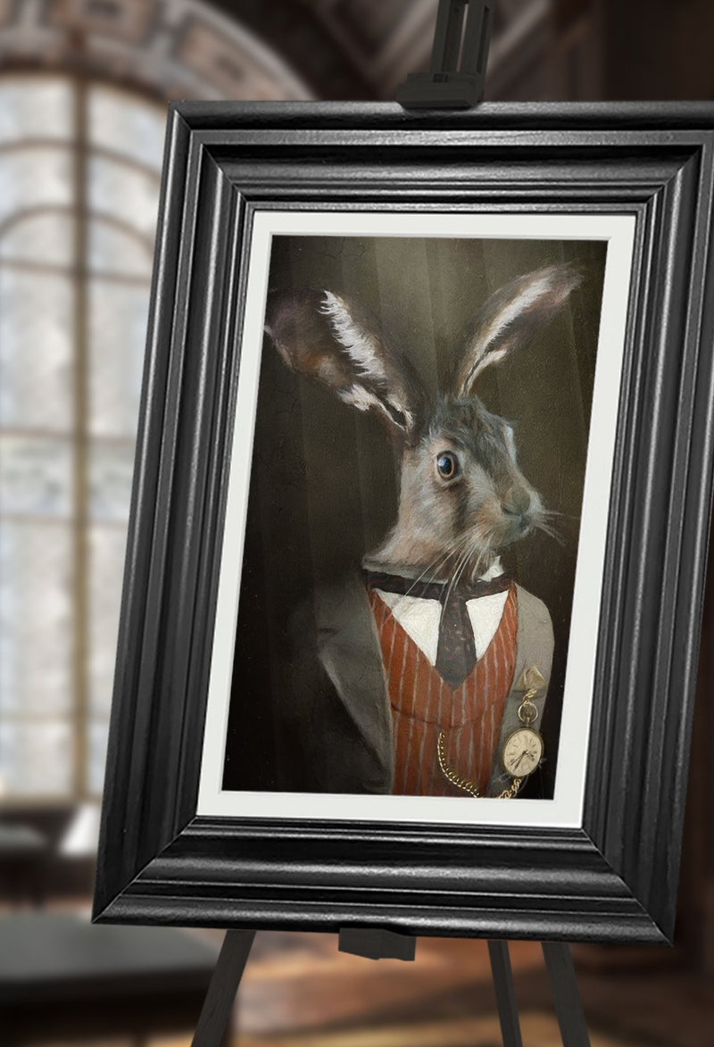 March Hare Pet Portrait at Turner & Walker