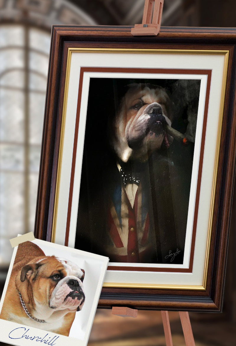Churchill Pet Portrait at Turner & Walker
