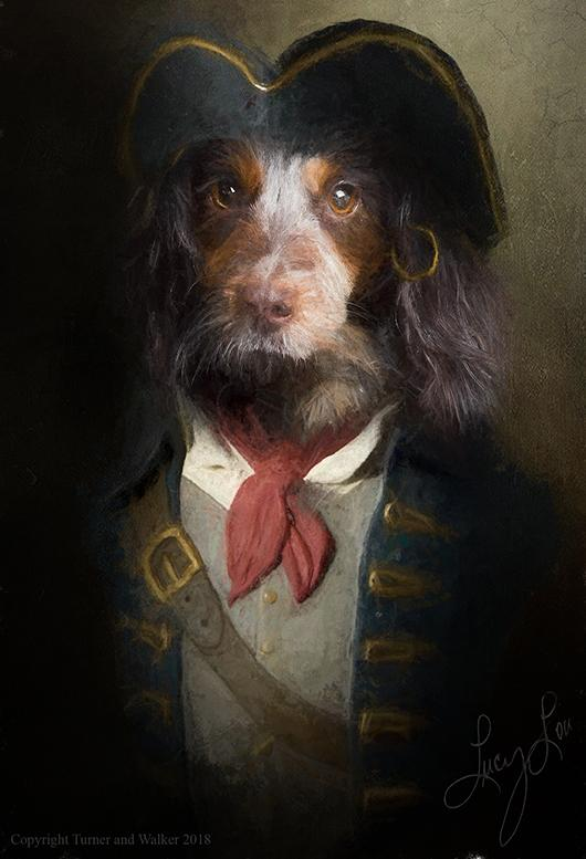 Commodore Barker Pet Portrait at Turner & Walker