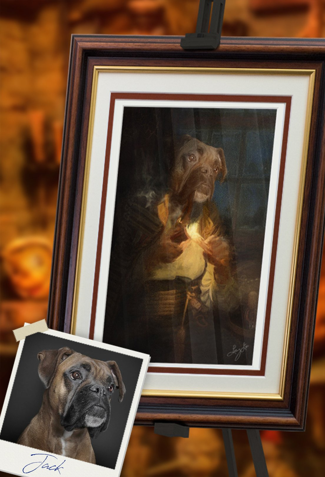 Geppetto Pet Portrait at Turner & Walker