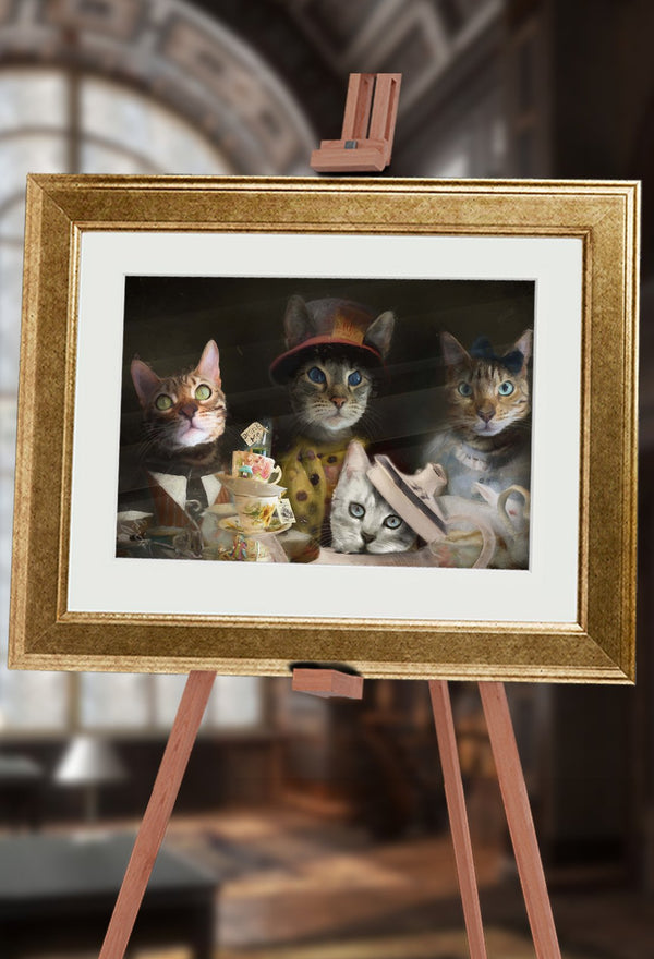 The Cat's Tea Party Pet Portrait at Turner & Walker