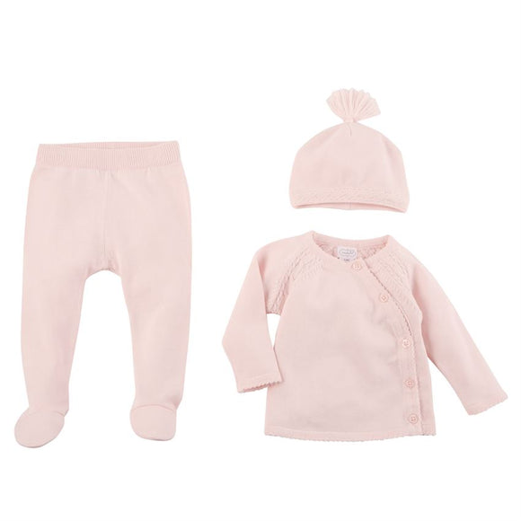 Pink Cable Knit Set