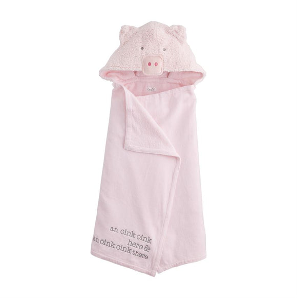 Baby Pig Hooded Towel