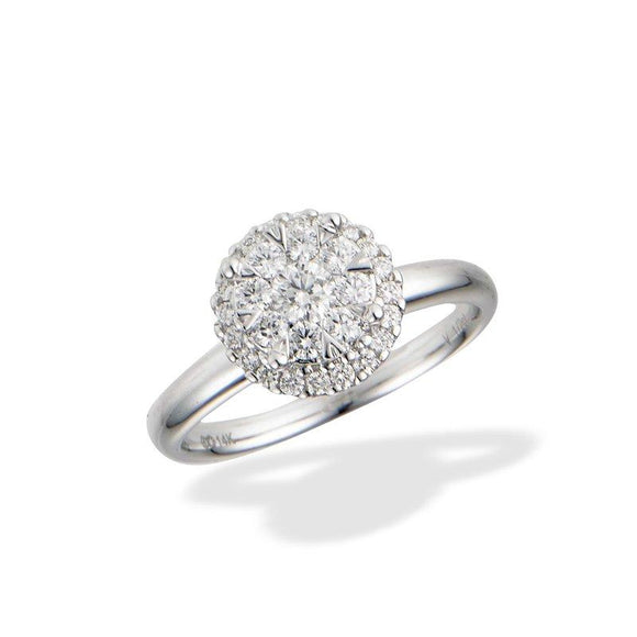 14K White Gold .50CT Diamond Ring