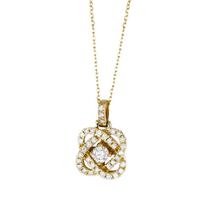 14K Yellow Gold .50CTTW Diamond Pendant