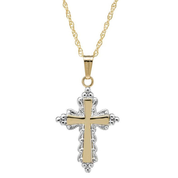 14K Gold-Filled Cross Pendant