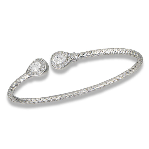 Sterling & CZ Fashion Bangle