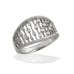 Sterling & CZ Fashion Ring