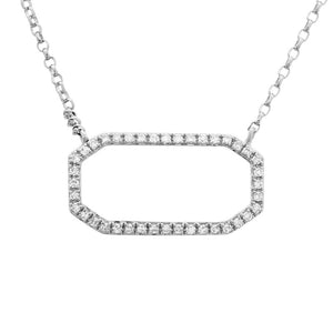 14K White Diamond Necklace