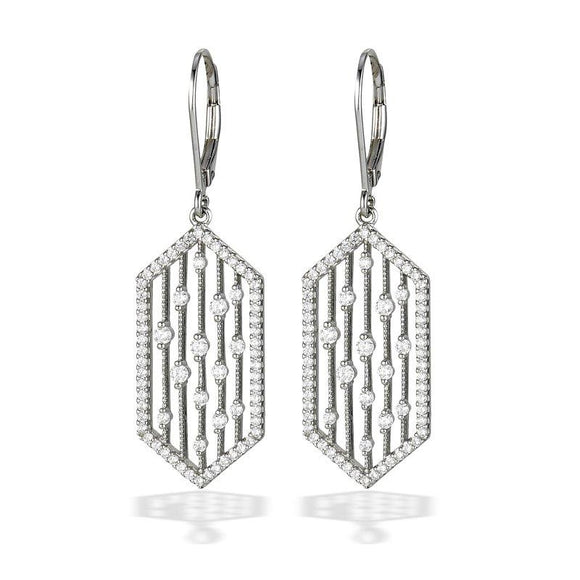 Sterling & CZ Fashion Earrings