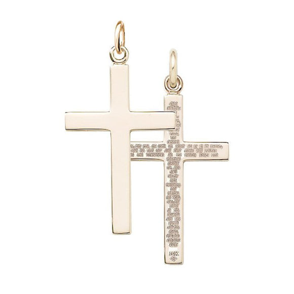 14K Gold-Filled Our Father Cross Pendant