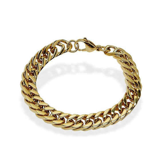 Gold-Tone Curb Chain Bracelet 8.5