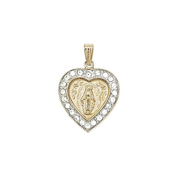 14K Gold-Filled Miraculous Medal Pendant