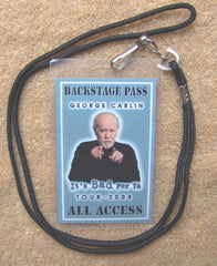 George Carlin - 2008 Tour Backstage Pass