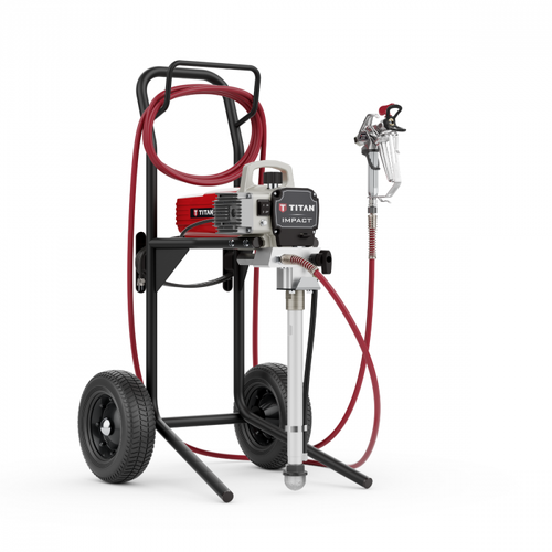 Titan Impact 410 High Rider Airless Sprayer 110V with 2 HEA 413 Tips