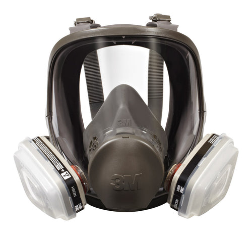 3M P95 Paint Spray and Pesticide Application Full Face Respirator Gray 1 pc.