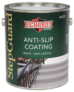 Richard's #4600 Series, Step Guard 100% Acrylic Anti-Slip Texture Floor Coating