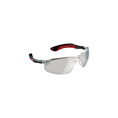 3M Safety Glasses Clear Lens Black/Red Frame 1 pc.