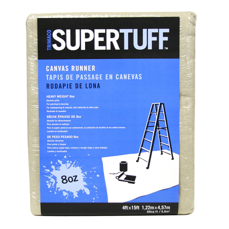 Trimaco SuperTuff 4 ft. W x 15 ft. L Canvas Runner 1 pk