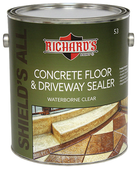 Richard's #53 Waterborne Concrete Floor & Driveway Sealer