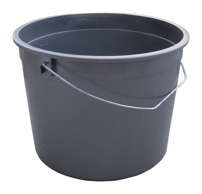 Encore Gray 5 qt. Plastic Paint Pail