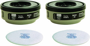 Honeywell North R95 Paint Spray and Pesticide Replacement Cartridge and Filter 2 pk (RAP-74040)
