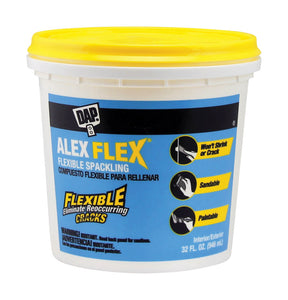 DAP Alex Flex Ready to Use White Spackling Compound 1 qt.