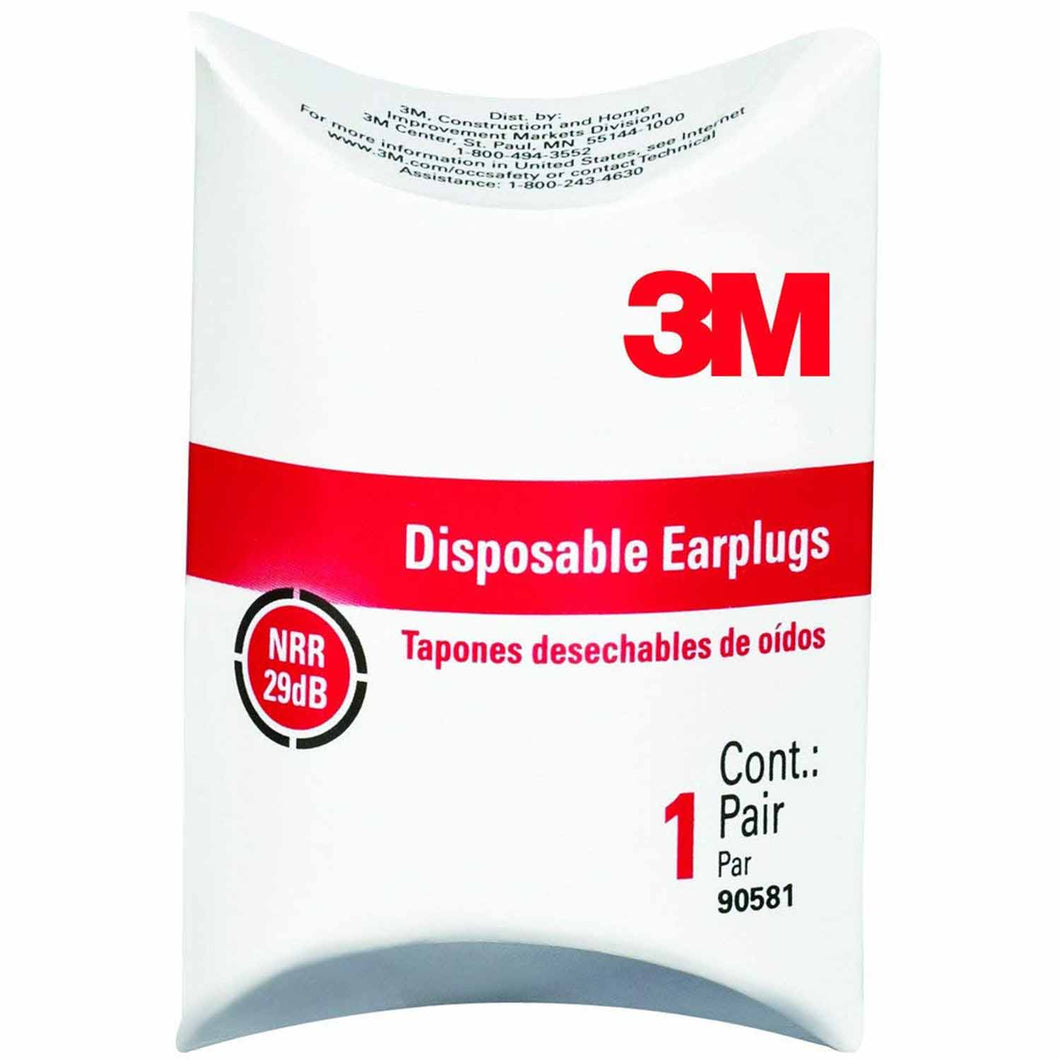 3M 29 dB Foam Ear Plugs Orange 1 pair
