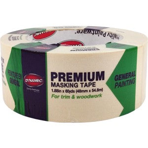 Dynamic Tan Premium Masking Tape x 60 Yds