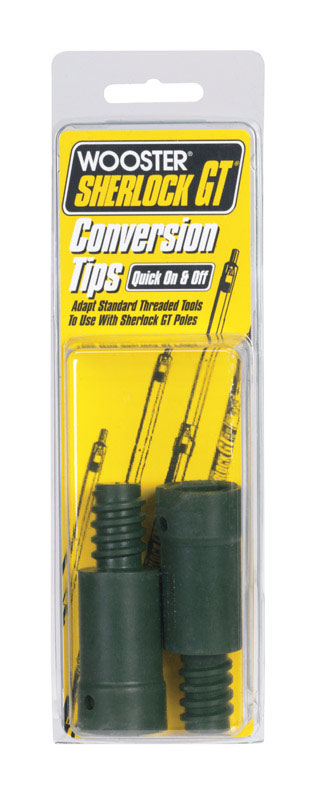 Wooster Sherlock .5 in. Dia. Plastic Extension Pole Conversion Tips Black