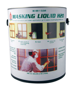 Associated Paint Clear Water-Based Acrylic Masking Liquid H2O 1 qt.