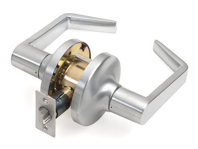 Tell Cortland Satin Chrome Passage Lockset ANSI Grade 2 1-3/4 in.