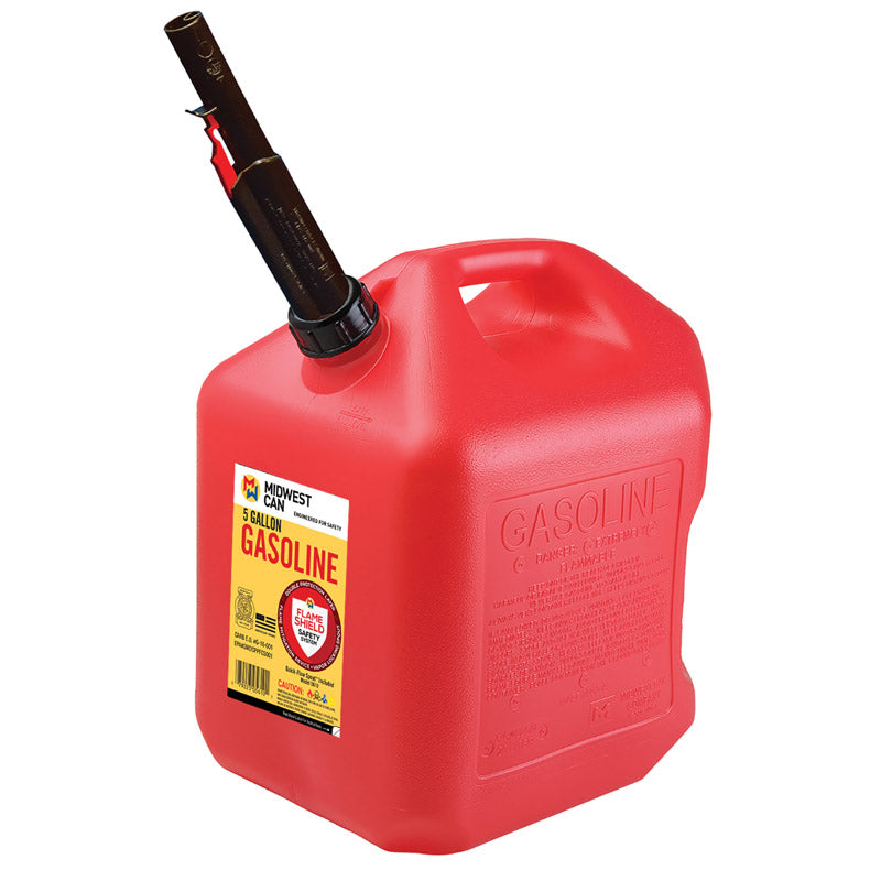 Midwest Can FlameShield Safety System Plastic Gas Can 5 gal.