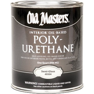 Old Masters 49504 Qt Semi Gloss Oil Based Polyurethane 450 VOC