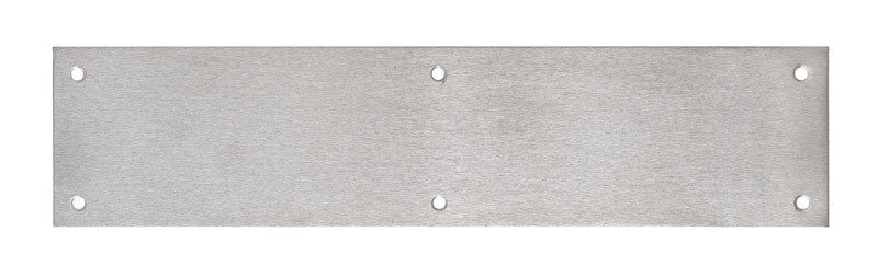 Tell 3-1/2 in. H x 15 in. L Brushed Stainless Steel Stainless Steel Push Plate