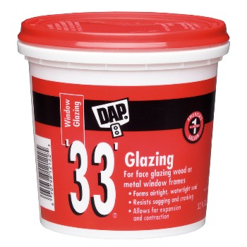 DAP 12122 White 33 Window Glazing ~ Quart