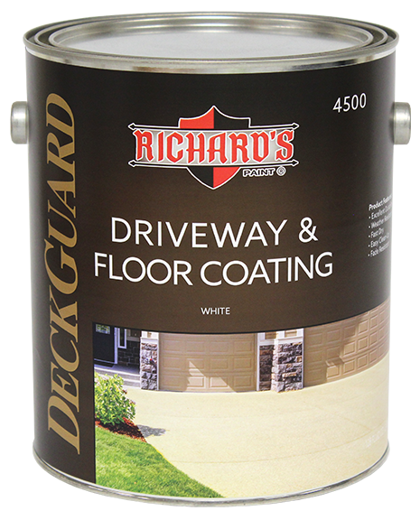 Richard's Paint #4500 Series, Deck Guard 100% Acrylic Driveway & Floor Coating