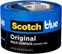 3M 2090-72A 72mm x 54.8m Blue Multi Surface Masking Tape s/w