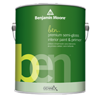 Benjamin Moore  ben Interior Paint- Semi-Gloss (W627)